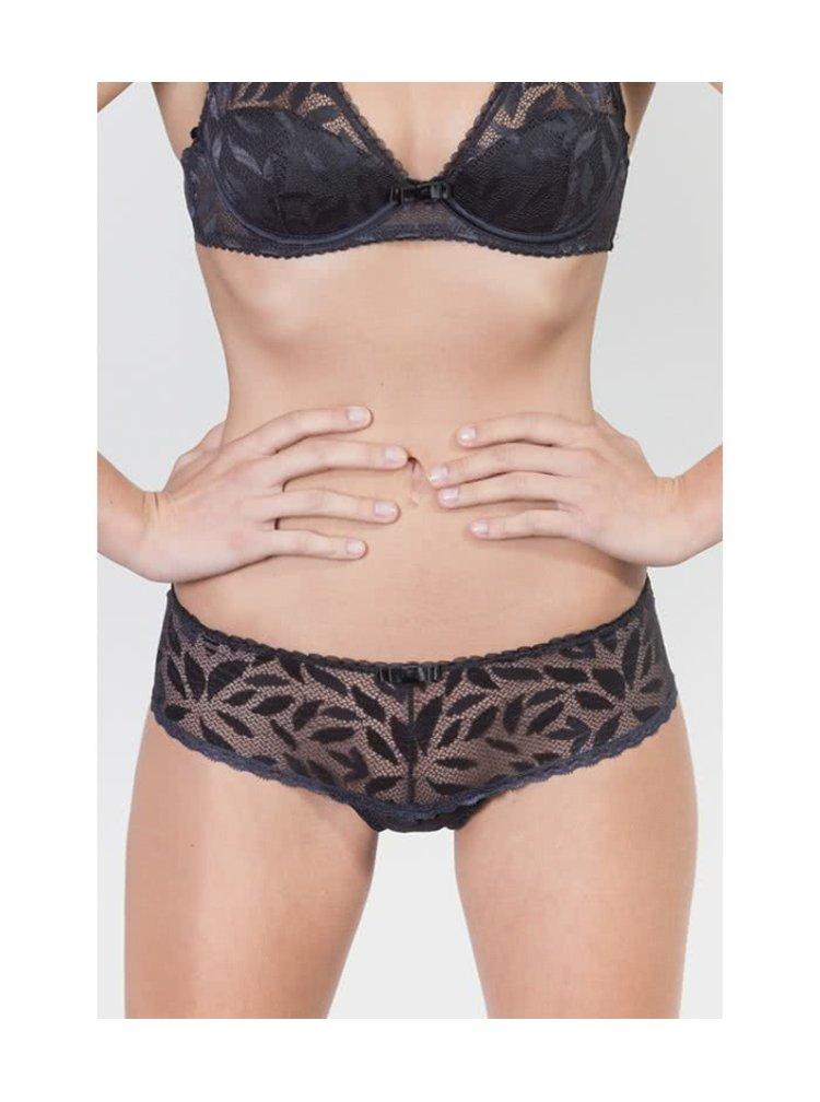 Tmavomodré čipkované string nohavičky ICÔNE Capri