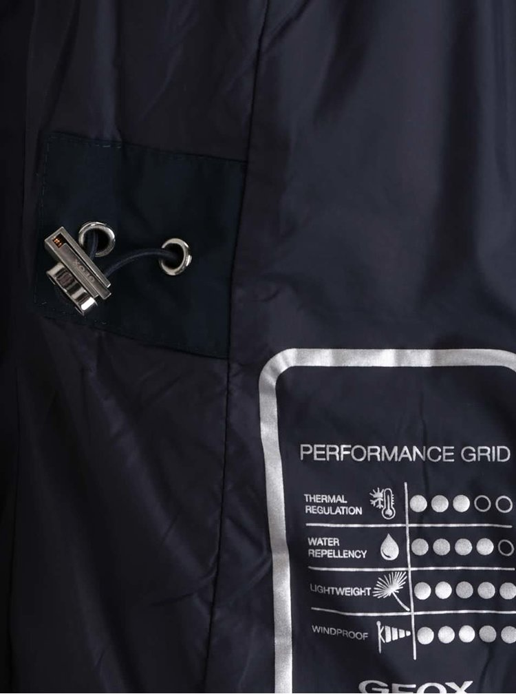 Tmavě modrá dámská bunda s kapucí Geox