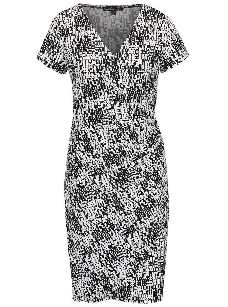 Krémovo-černé vzorované šaty Smashed Lemon