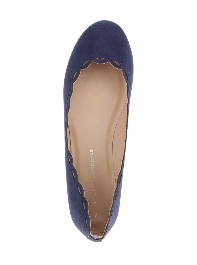 Balerini albastru inchis Dorothy Perkins cu decupaje