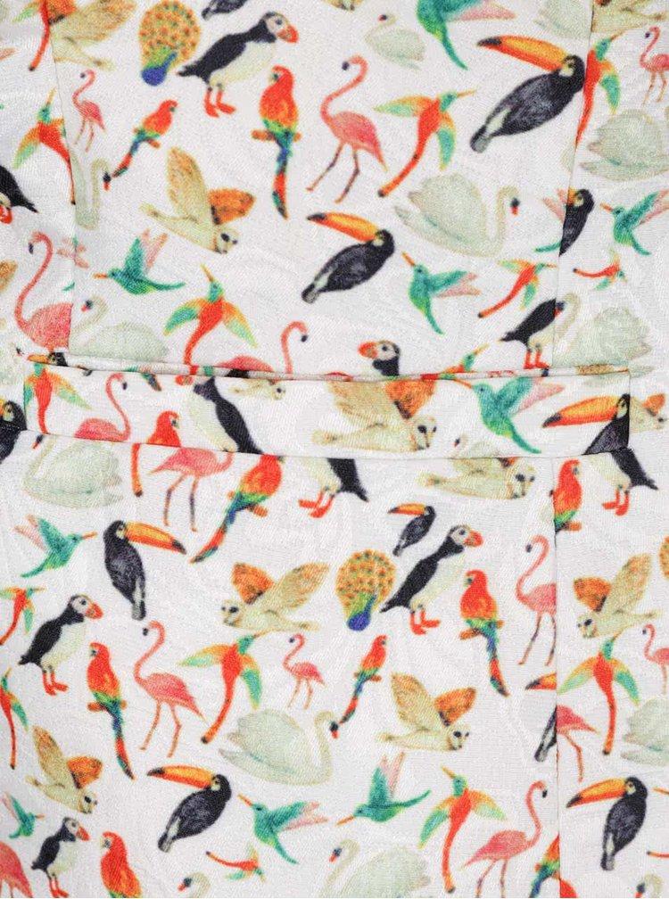 Krémové sako s motivem ptáků Smashed Lemon