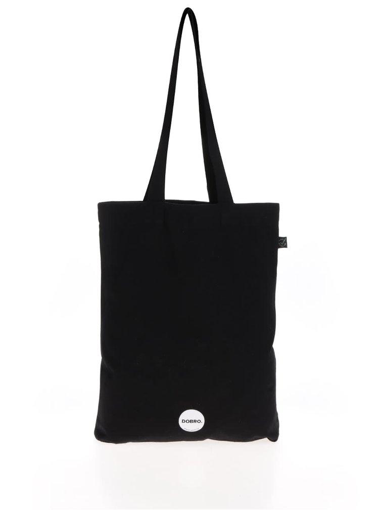 """""""Dobrá"""" plátěná černá taška pro Jeden svět 2017"""