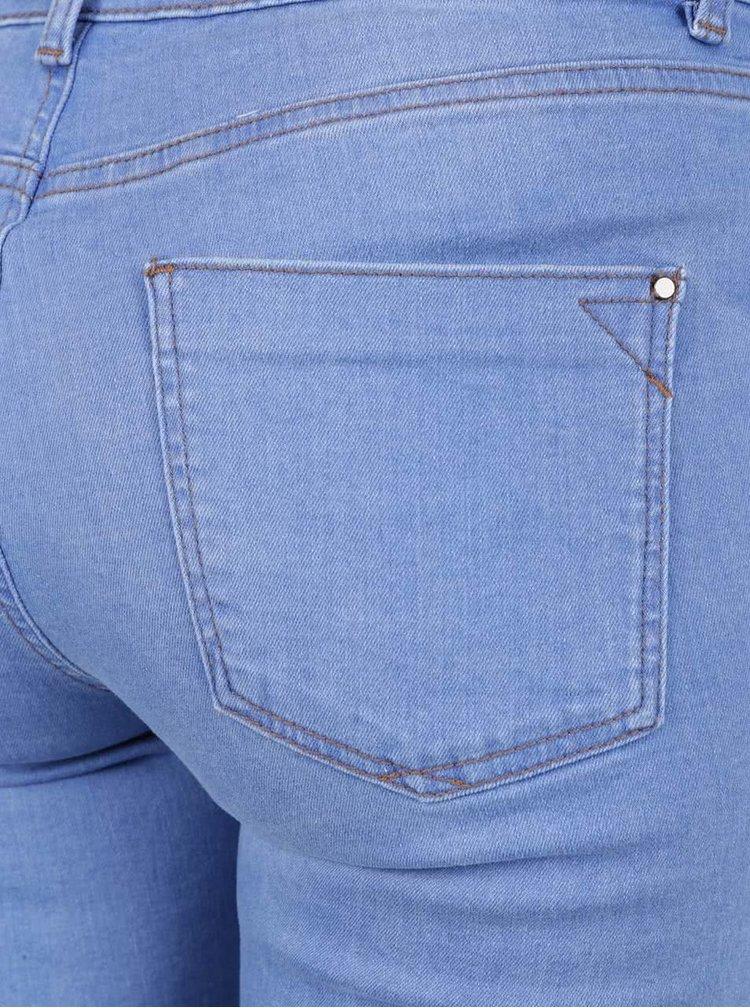 Blugi albastru deschis Dorothy Perkins cu rupturi în zona genunchilor