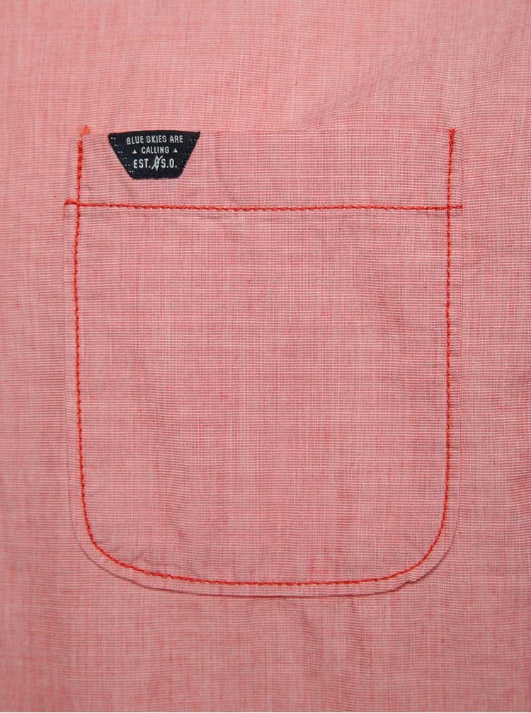 Cămașă roz închis s.Oliver cu croi slim fit