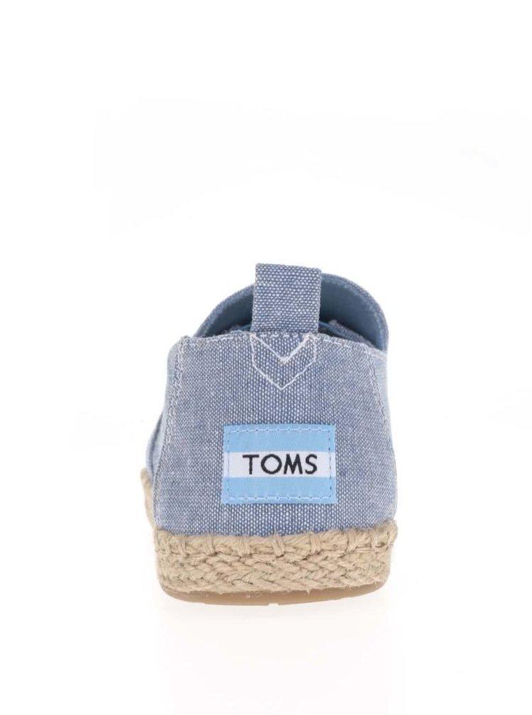Modré dámské espadrilky TOMS
