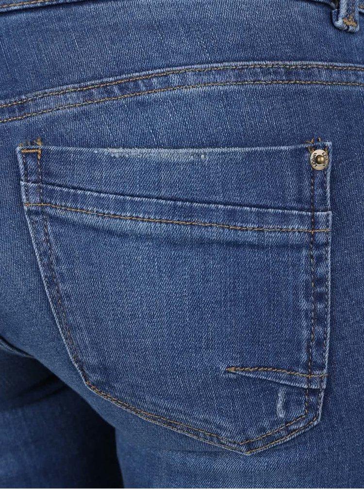 Modré dámské slim fit džíny s potrhaným efektem s.Oliver