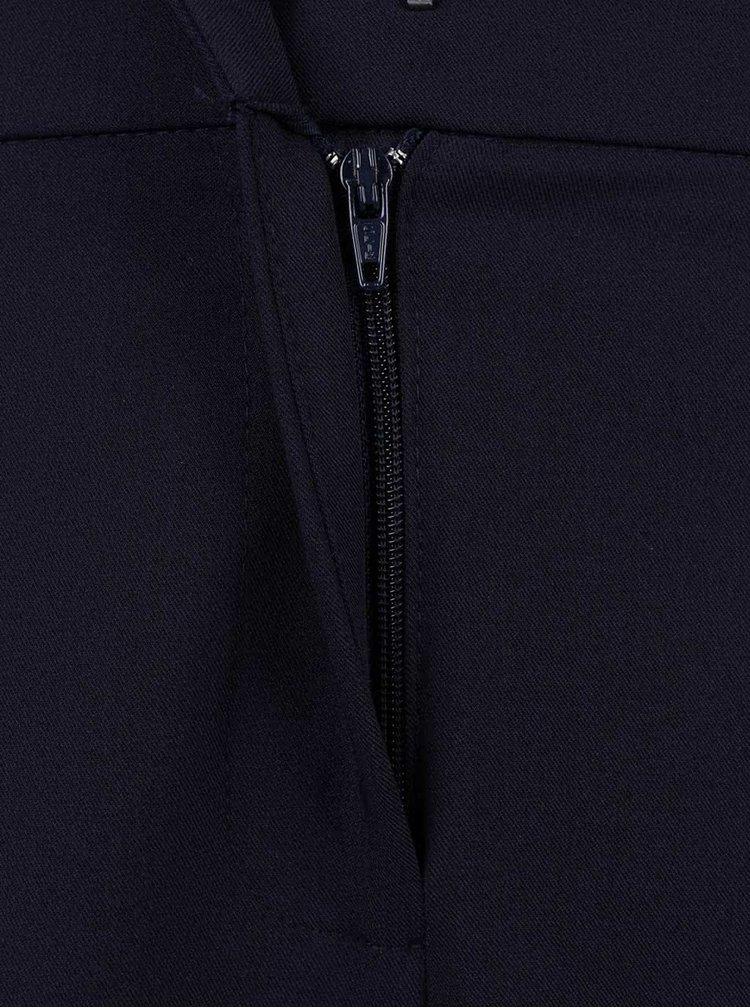 Tmavě modré formální zkrácené kalhoty Dorothy Perkins