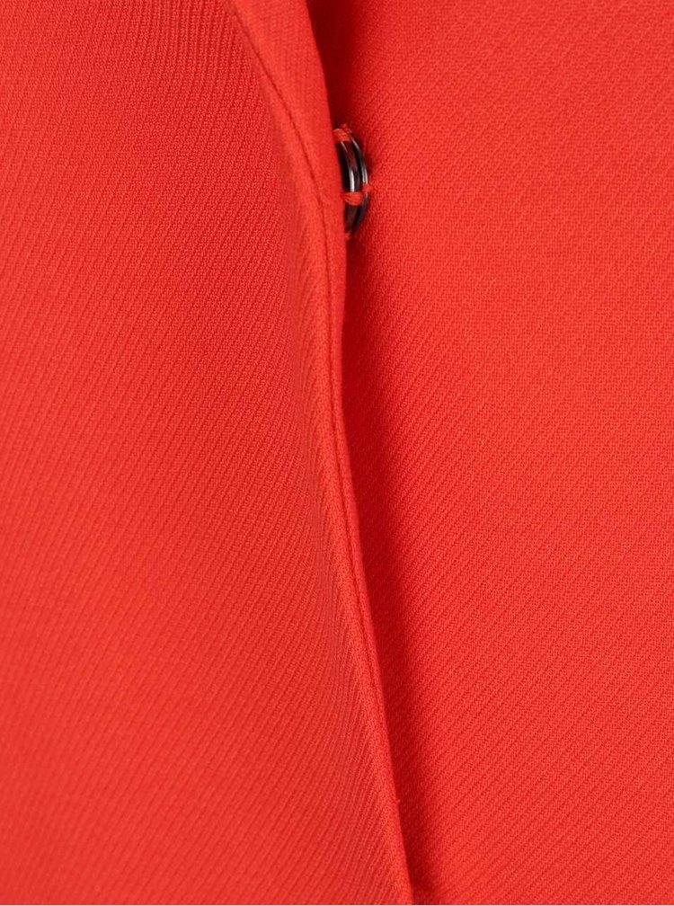 Červený dlouhý kabát Dorothy Perkins