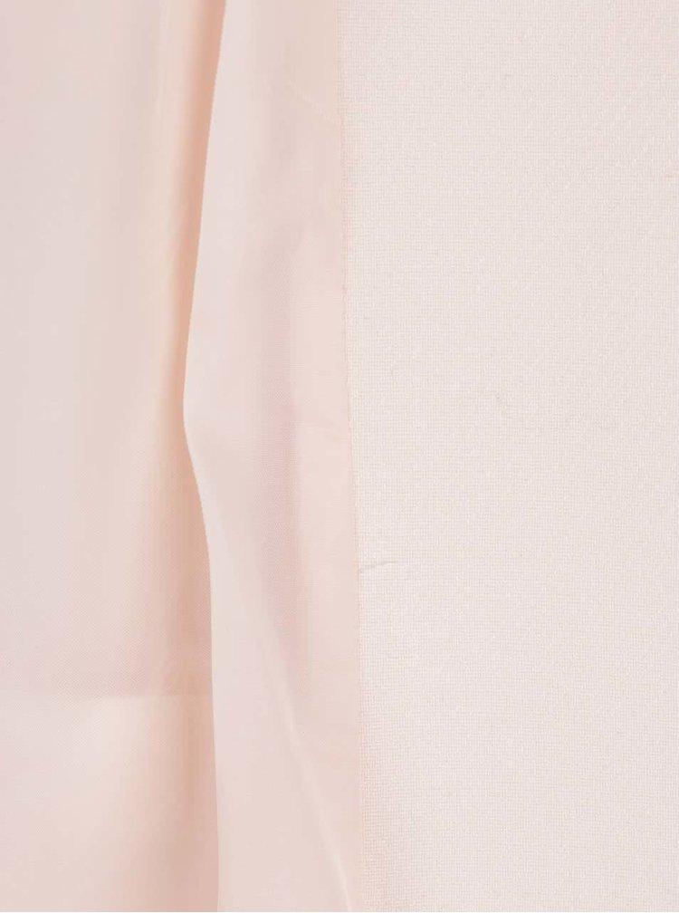 Palton subtire roz pal Dorothy Perkins cu guler cu decupaje