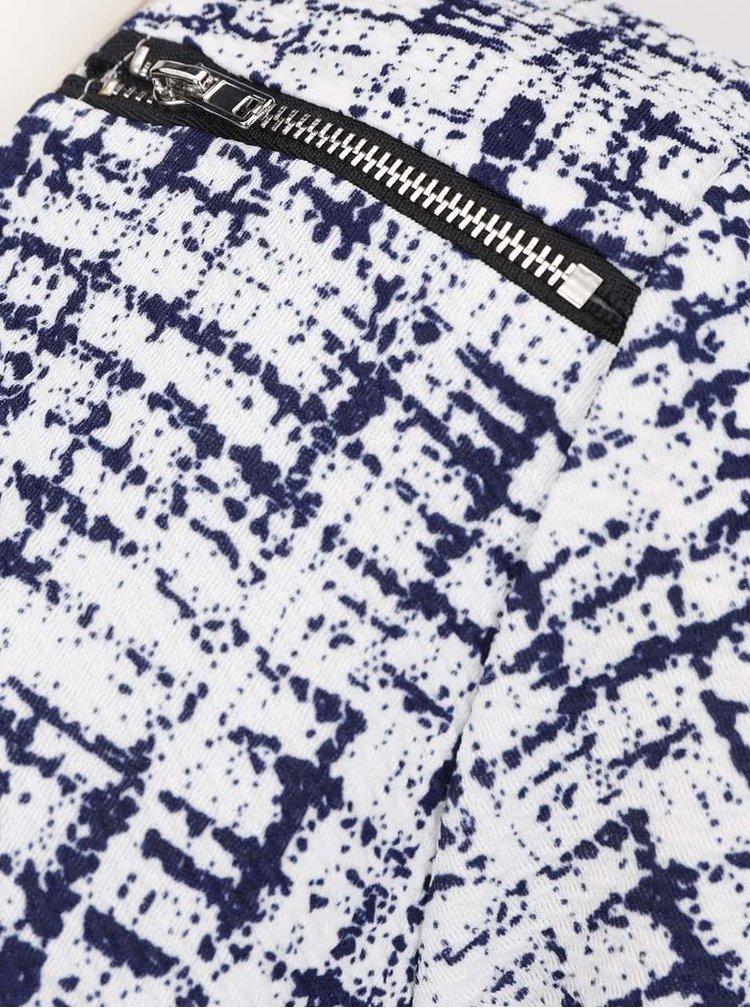 Rochie bleumarin&alb Smashed Lemon din material texturat