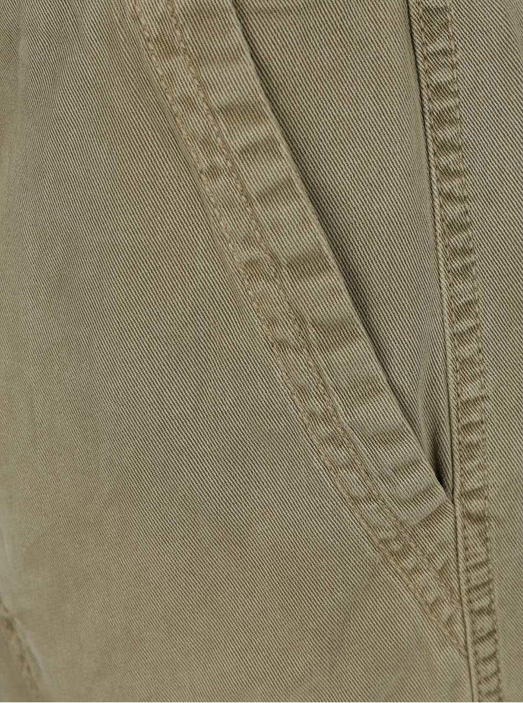 Khaki šaty s dlouhým rukávem s.Oliver