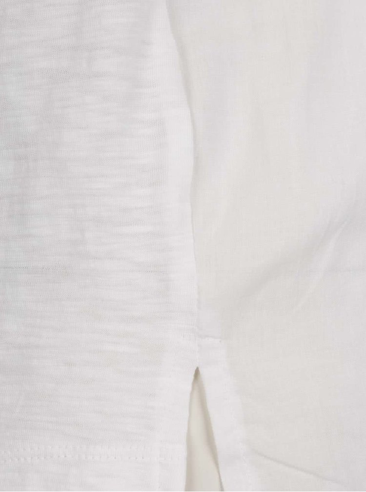 Bluză crem s.Oliver din bumbac cu detalii din dantelă