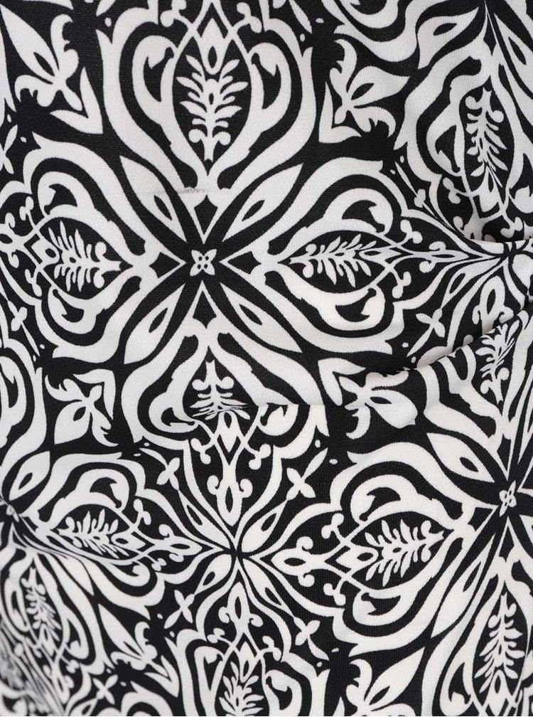Černo-krémové šaty s 3/4 rukávem Smashed Lemon