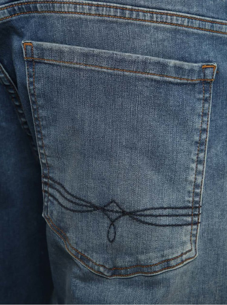 Blugi slim fit albastri cu aspect decolorat pentru barbati s.Oliver