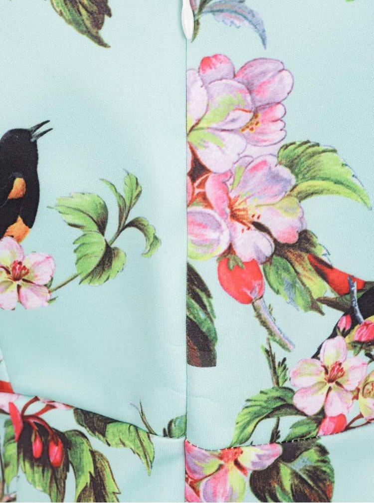 Rochie verde menta Smashed Lemon cu model floral