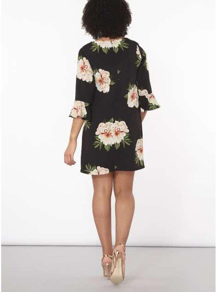 Rochie neagra Dorothy Perkins cu imprimeu floral