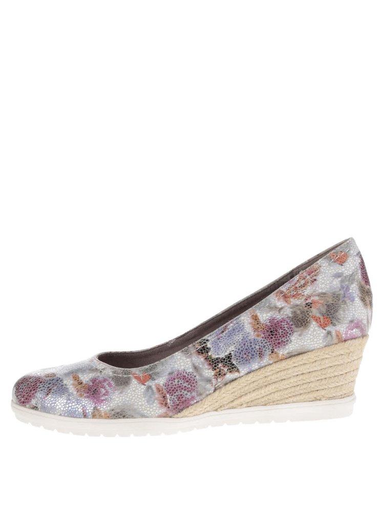 Pantofi gri Tamaris cu model