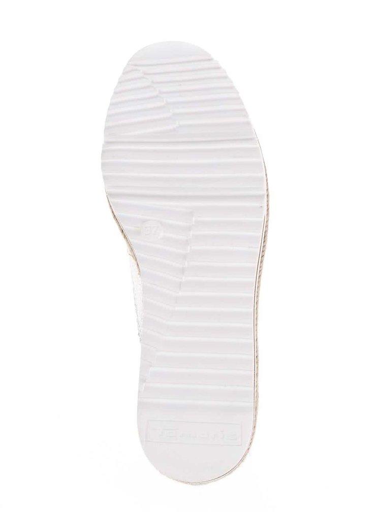 Pantofi Oxford argintii Tamaris cu detaliu