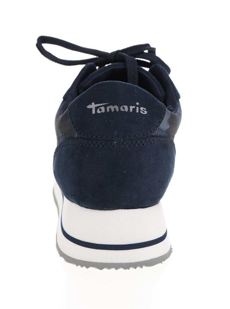 Tmavě modré tenisky na platformě Tamaris