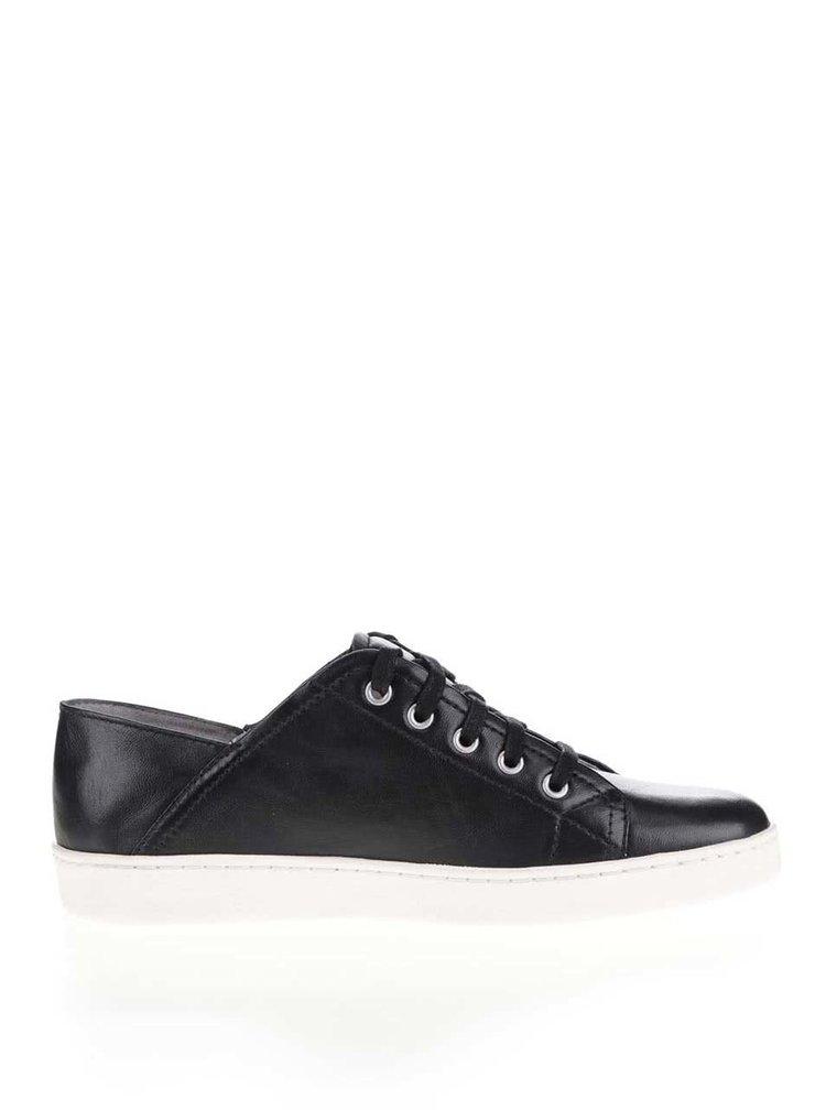 Pantofi sport negri Tamaris din piele