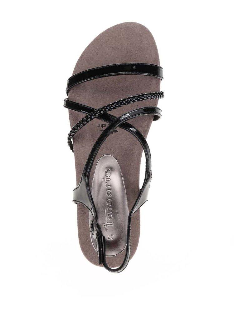 Černé páskové sandály Tamaris