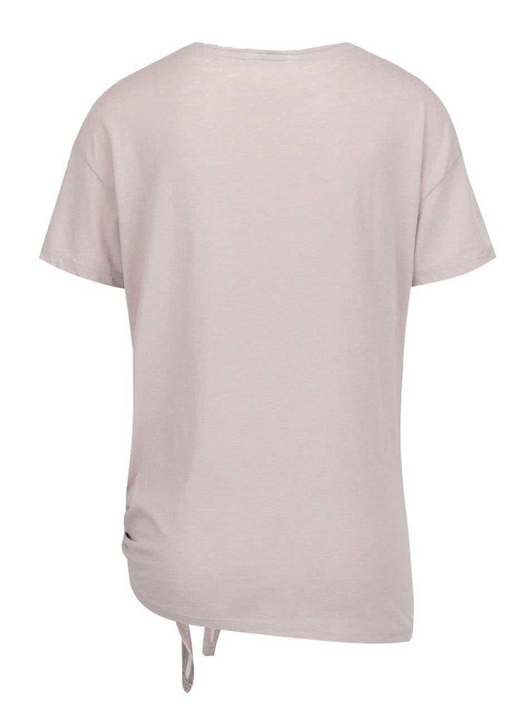 Tricou gri ONLY Amber cu imprimeu