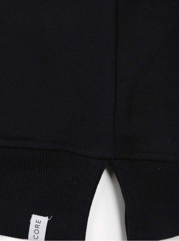 Hanorac negru Jack & Jones cu print