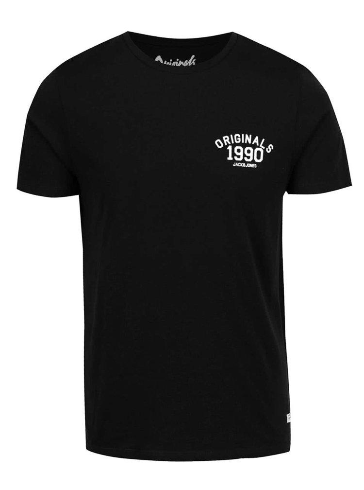 Černé triko s potiskem Jack & Jones