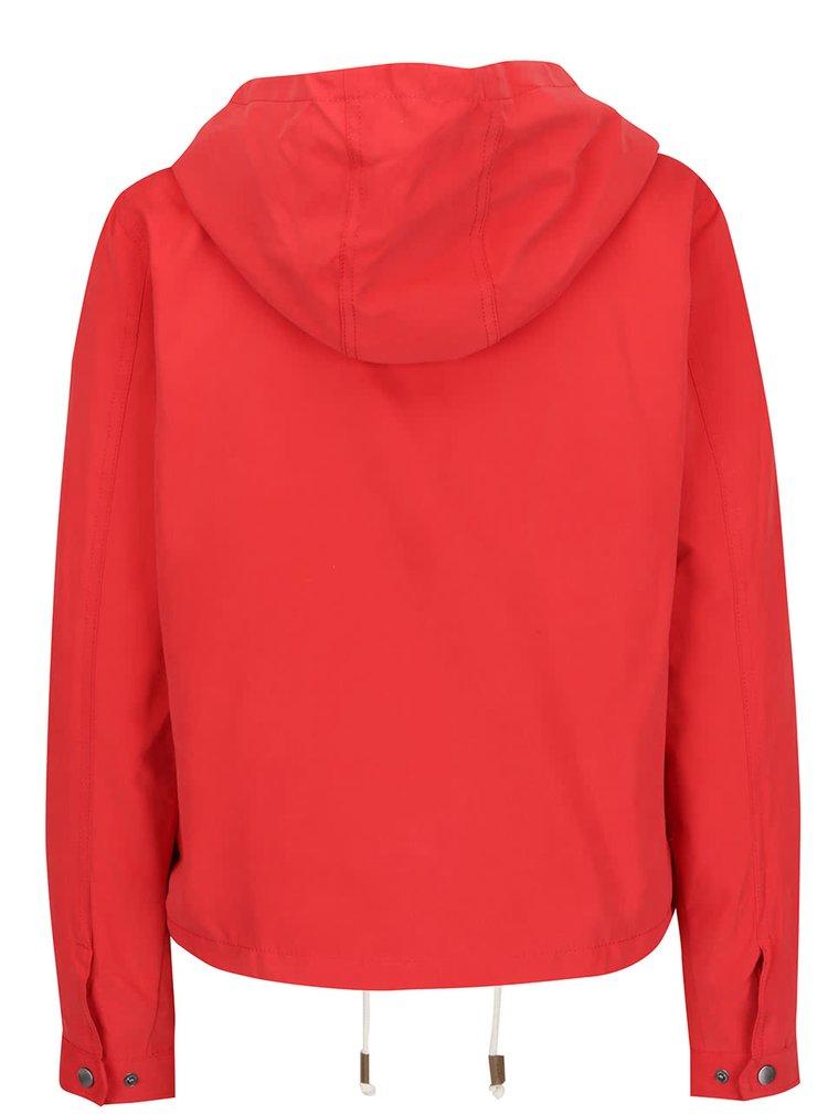 Jachetă roșie ONLY Skylar cu glugă