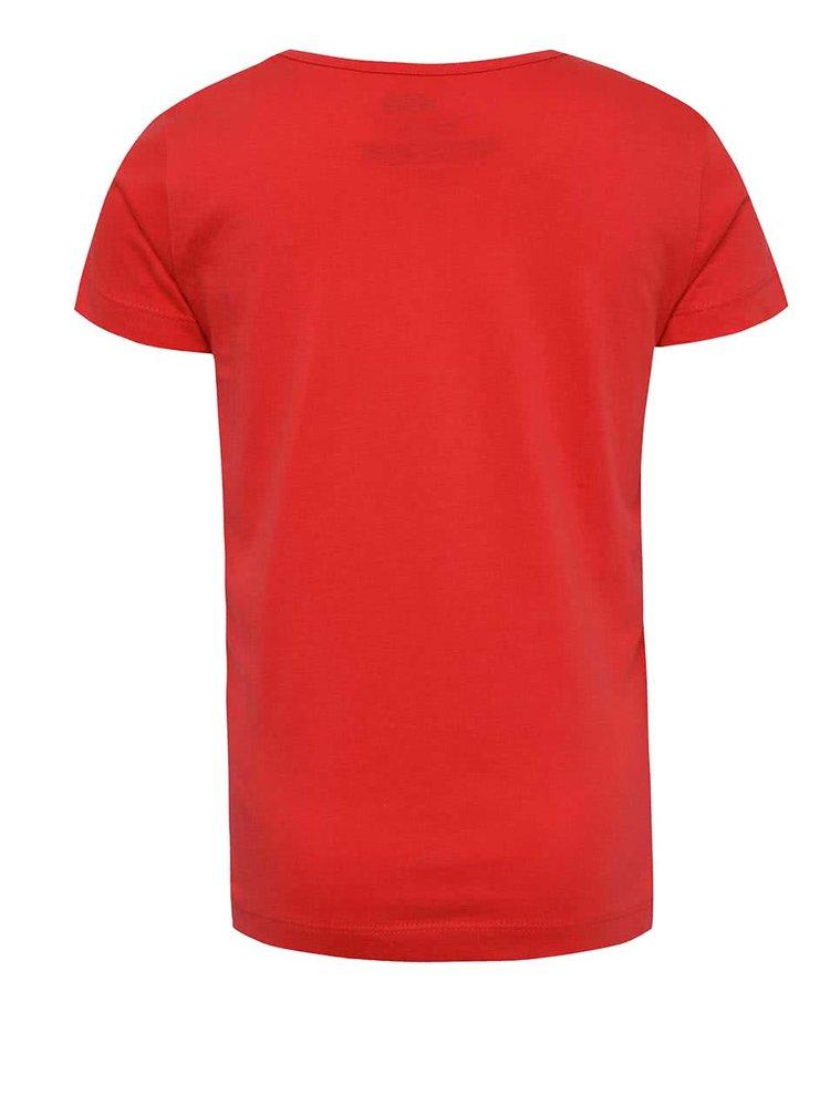 Červené klučičí triko s potiskem LEGO Wear Teo