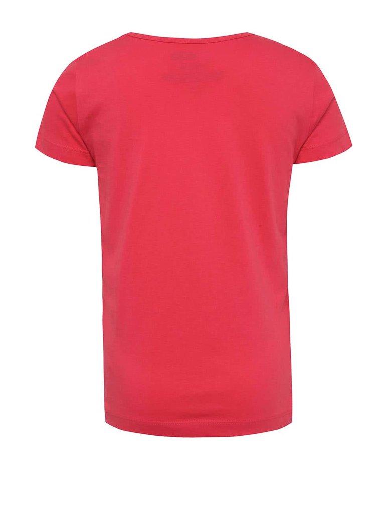 Tmavě růžové holčičí tričko s krátkým rukávem LEGO Wear