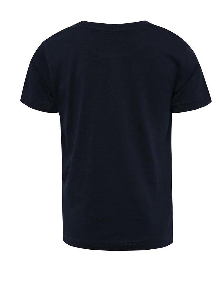 Tricou albastru închis cu imprimeu LEGO wear pentru băieți