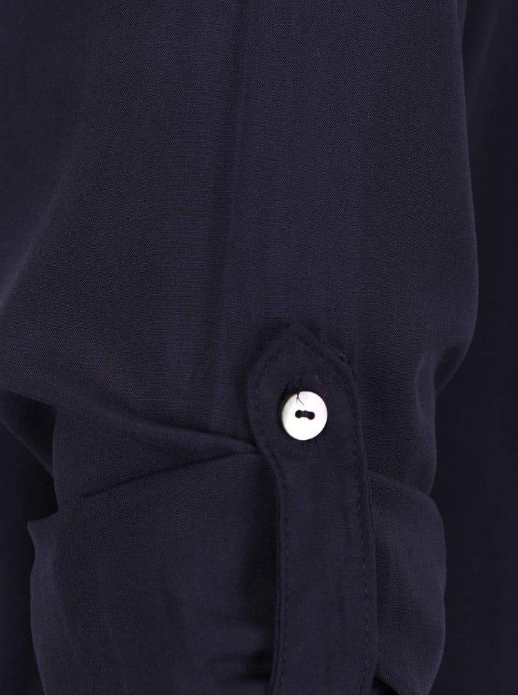 Tmavě modrá halenka s véčkovým výstřihem ONLY Nova