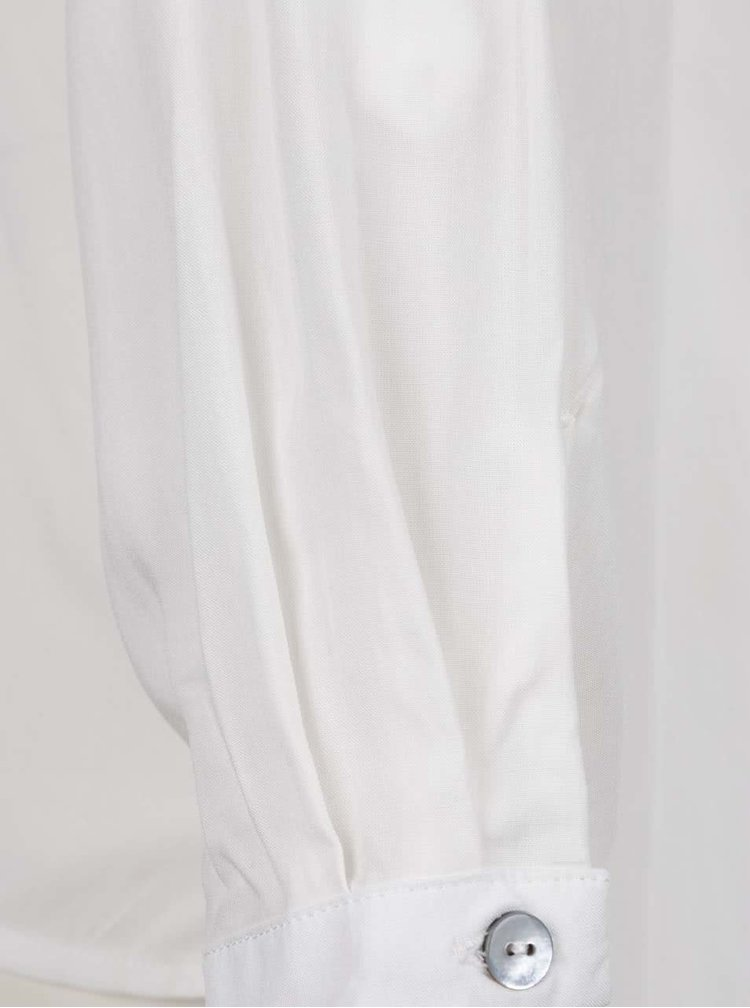 Krémová halenka s véčkovým výstřihem ONLY Nova