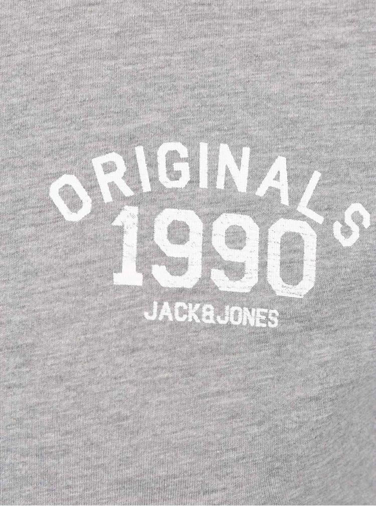 Šedé triko s potiskem Jack & Jones