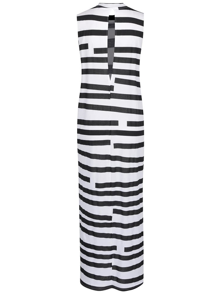 Rochie maxi negru & alb Cheap Monday în dungi
