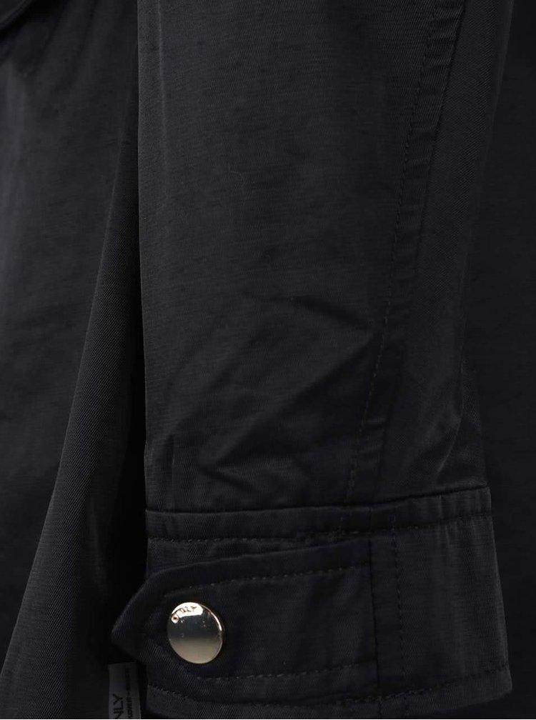 Černá parka s kapucí ONLY Darcia