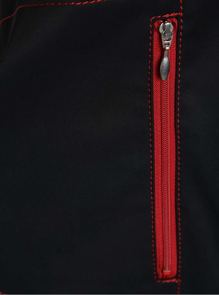 Jachetă neagră bugatti cu guler înalt