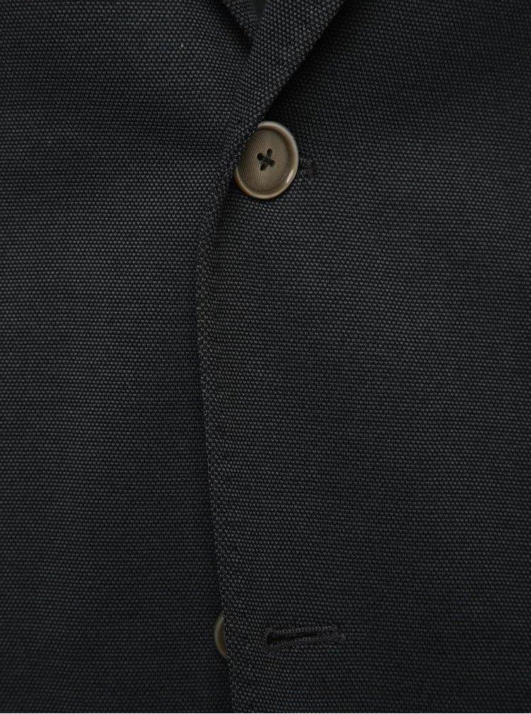 Tmavě šedé pánské sako bugatti