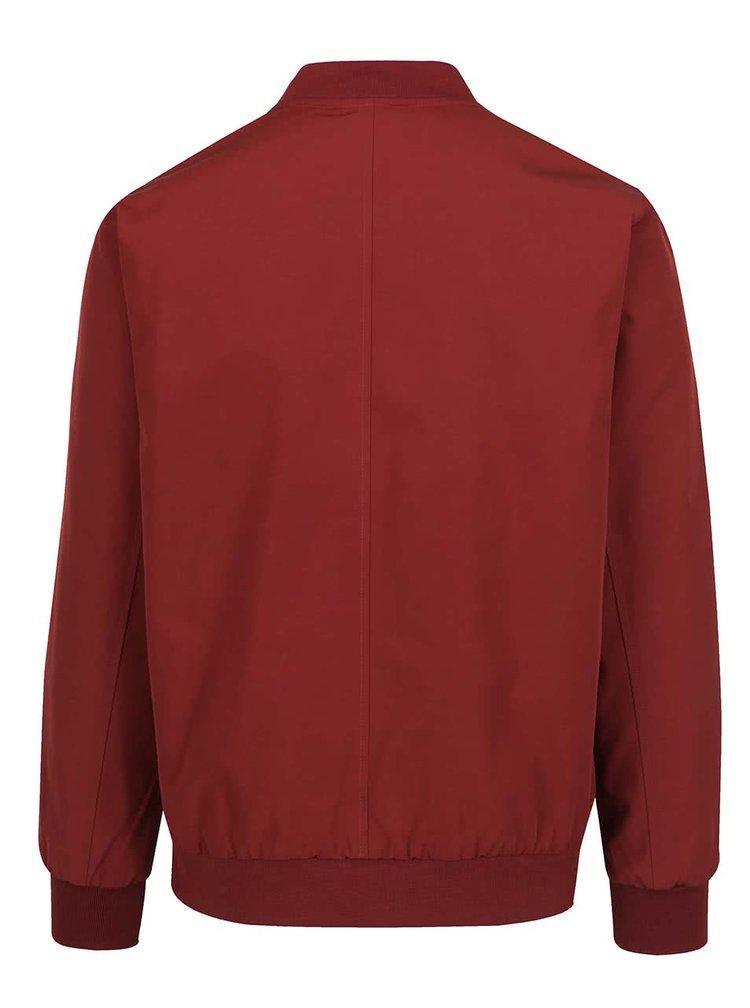 Jachetă bomber roșu cărămiziu Burton Menswear London