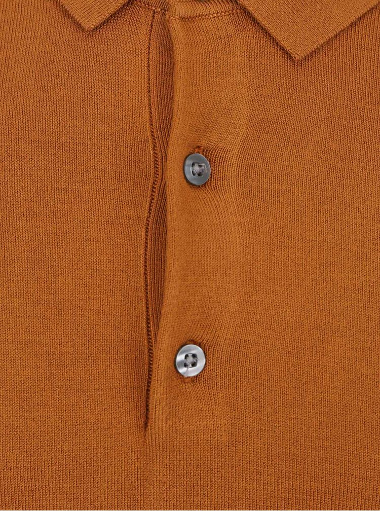 Bluză polo maro Burton Menswear London