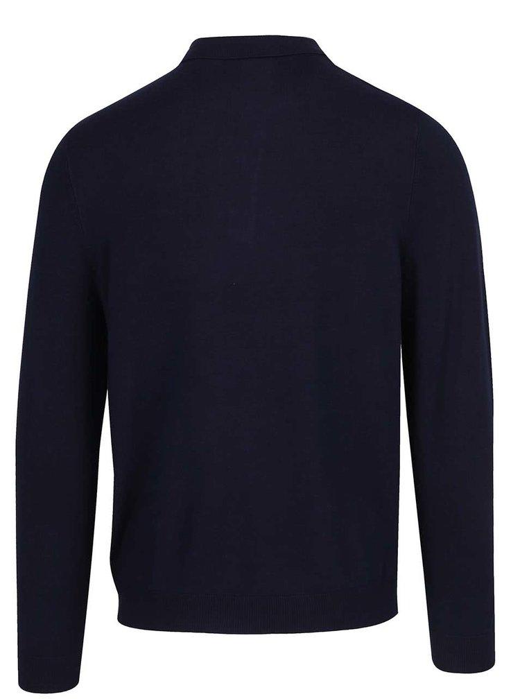 Bluză polo albastru închis Burton Menswear London