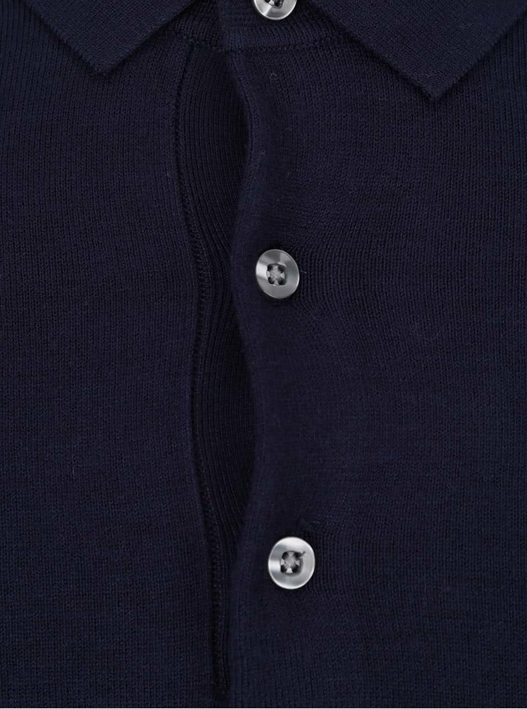 Bluza polo albastru inchis Burton Menswear London