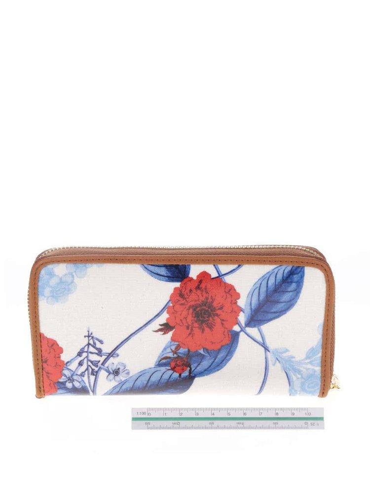 Portofel crem cu imprimeu floral Liberty by Gionni Anais