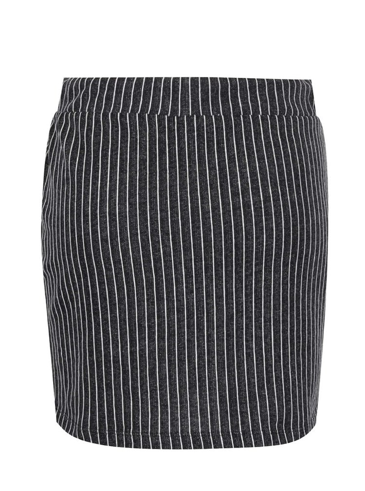 Fustă mini neagră Jacqueline de Yong Dream cu dungi verticale în contrast