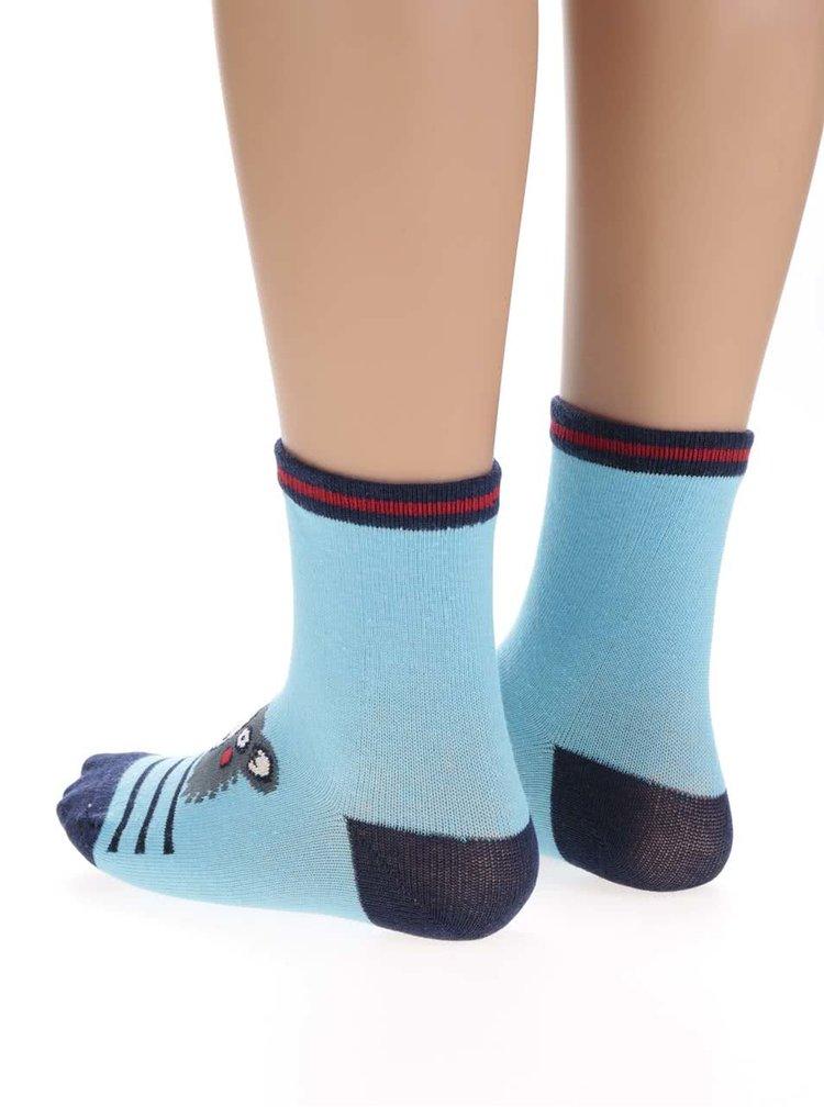 Sada tří párů klučičích ponožek s motivem zvířat 5.10.15.
