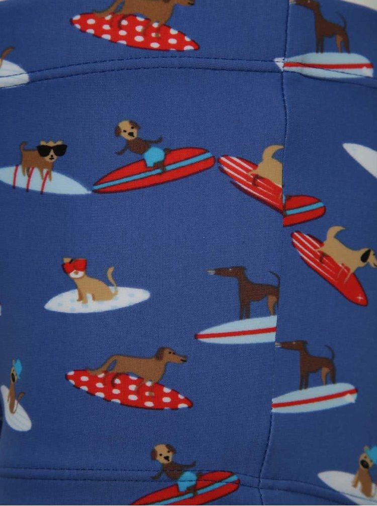 Tmavě modré klučičí plavky s potiskem psů 5.10.15.