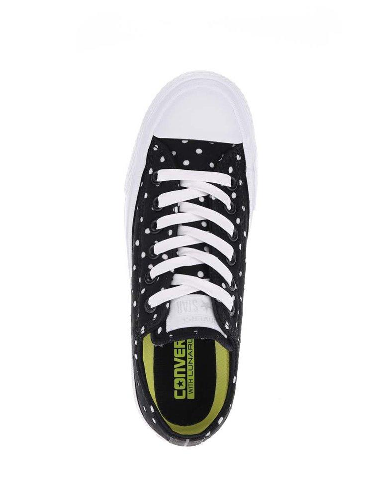 Bílo-černé dámské puntíkaté tenisky Converse Chuck Taylor All Star II