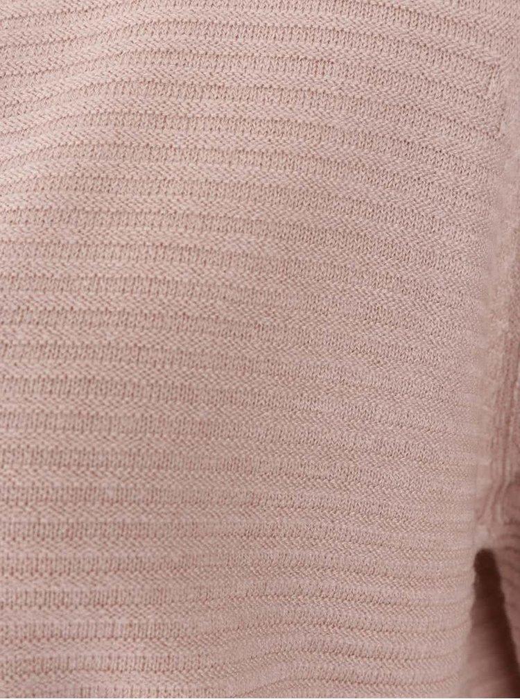Světle růžový žebrovaný cardigan Jacqueline de Yong Mathison
