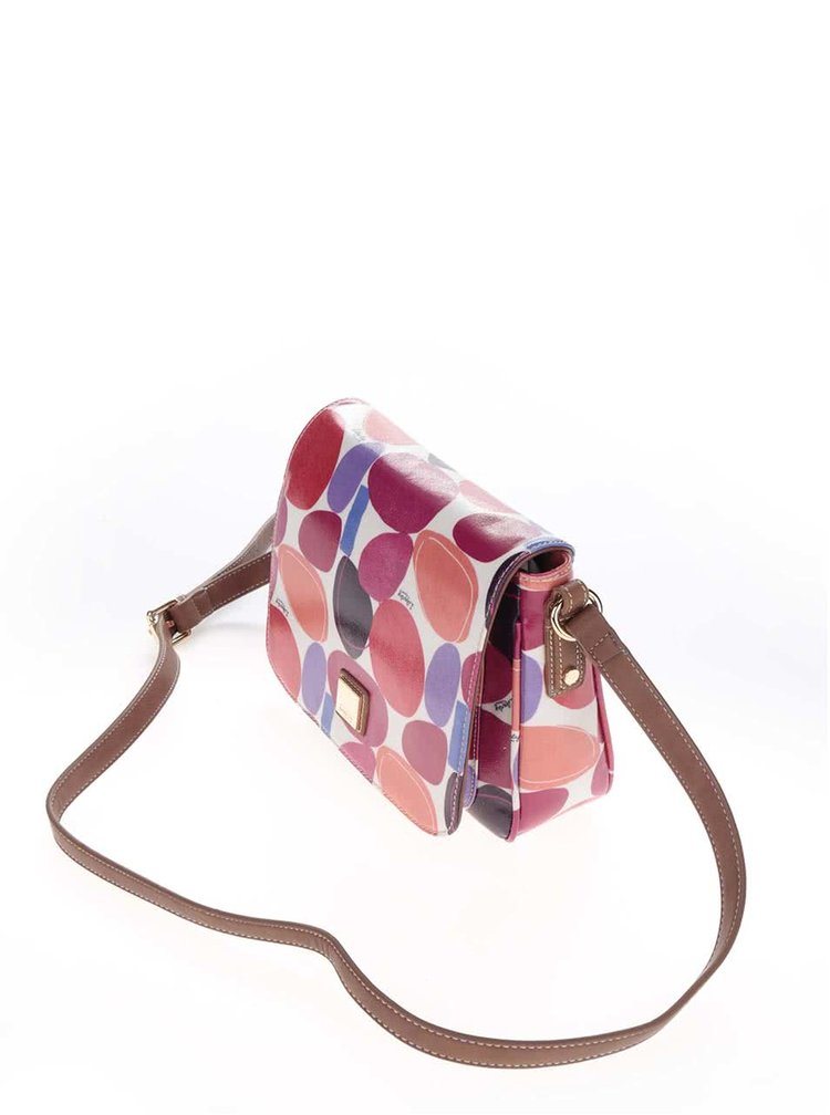 Geanta crossbody bej Liberty by Gionni Paulina cu imprimeu multicolor